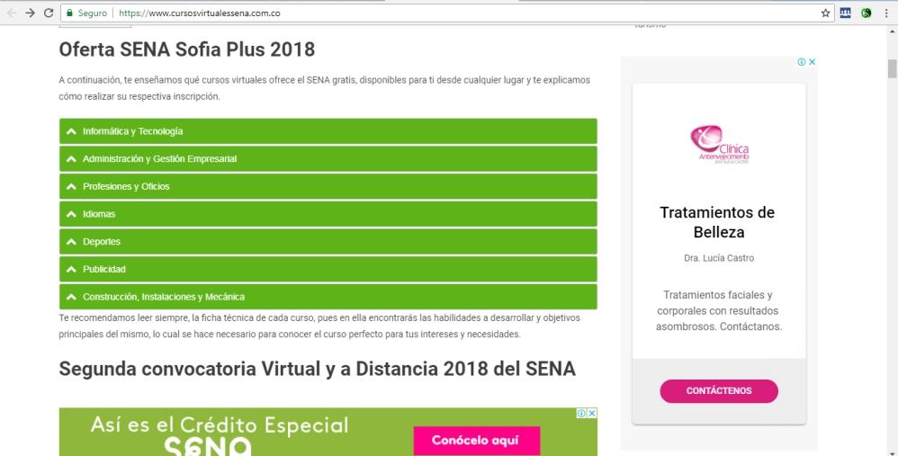 cursos virtuales sena pagina oficial